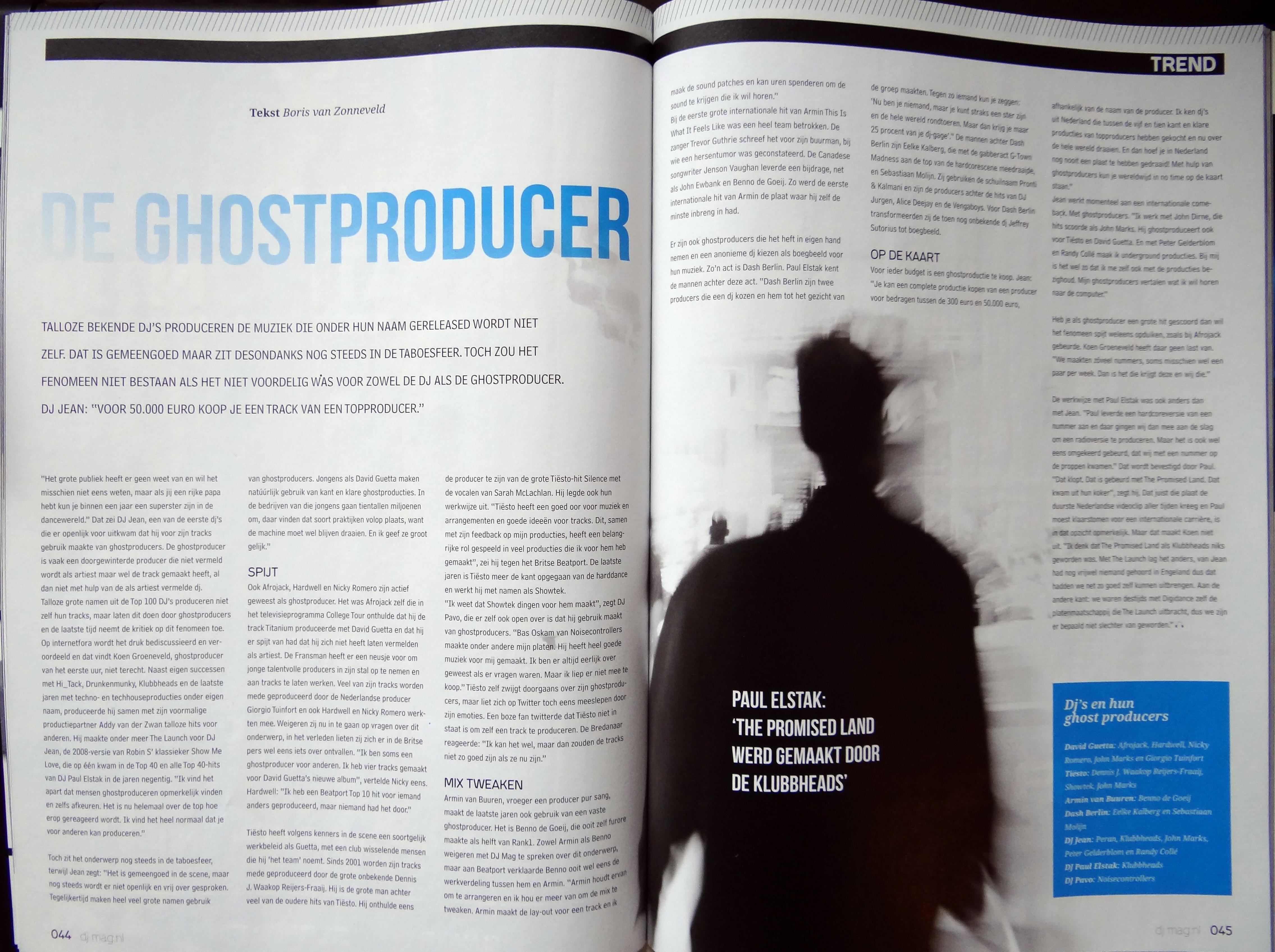 Boris van Zonneveld Ghostproducer