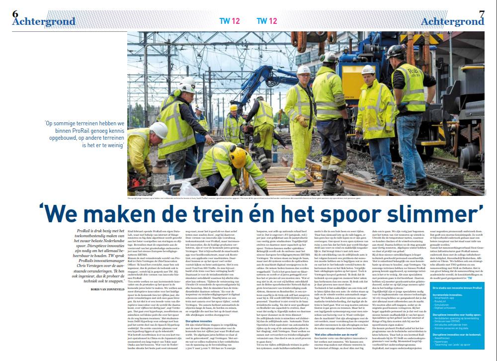 Boris van Zonneveld innovatie bij de NS