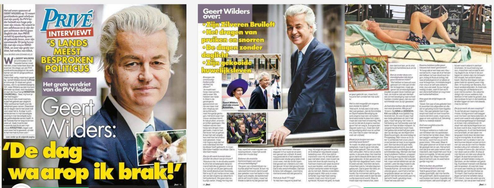 Boris van Zonneveld interview Geert Wilders